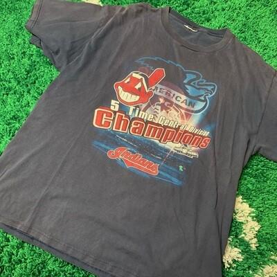 Cleveland Indians 5 Time Central Division Champions Size XL