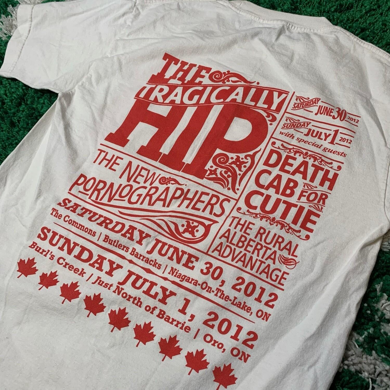 The Tragically Hip 2012 Tee Size Medium