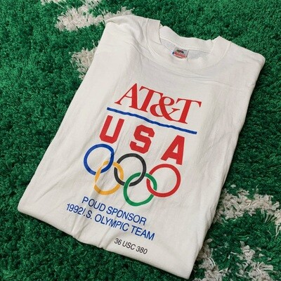 AT&T USA Proud Sponsor 1992 Olympic Team Size Medium