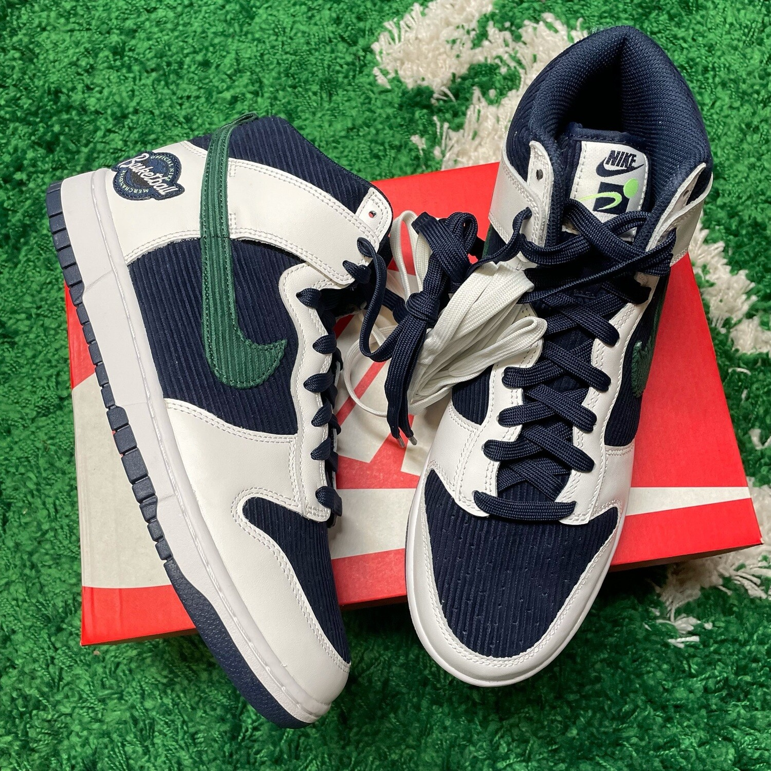 Nike Dunk High Sports Specialties White Navy Size 10