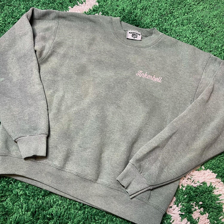Tinkerbell Faded Green Sweater Size Medium(w)
