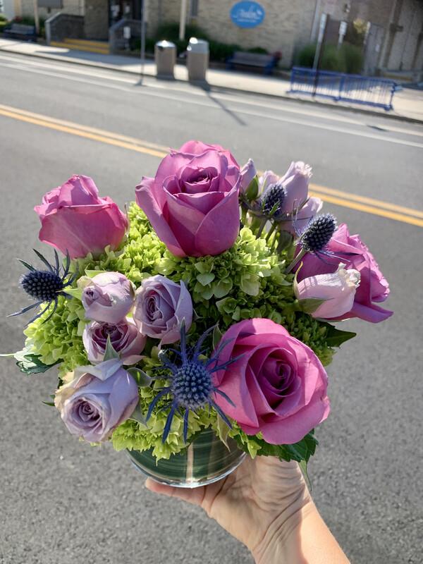 $60 Seasonal Fresh Flower Vase Arrangement