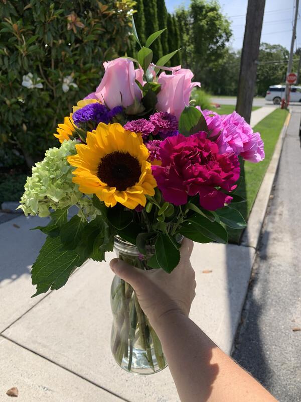 $55 Seasonal Fresh Flower Vase Arrangement