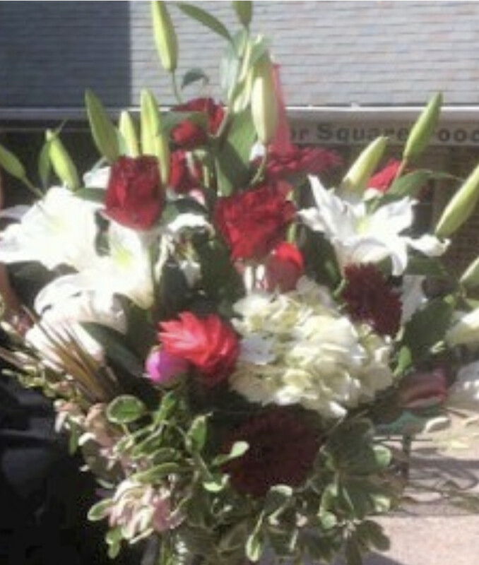 $350 Seasonal Wrapped Fresh Flower Bouquet (no vase)