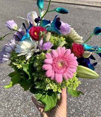 $80 Seasonal Fresh Flower Vase Arrangement