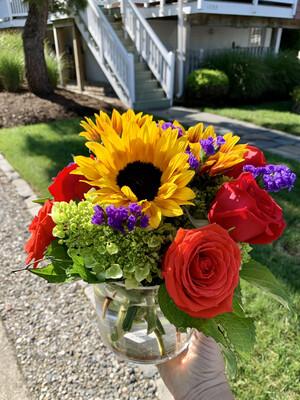 $70 Seasonal Fresh Flower Vase Arrangement