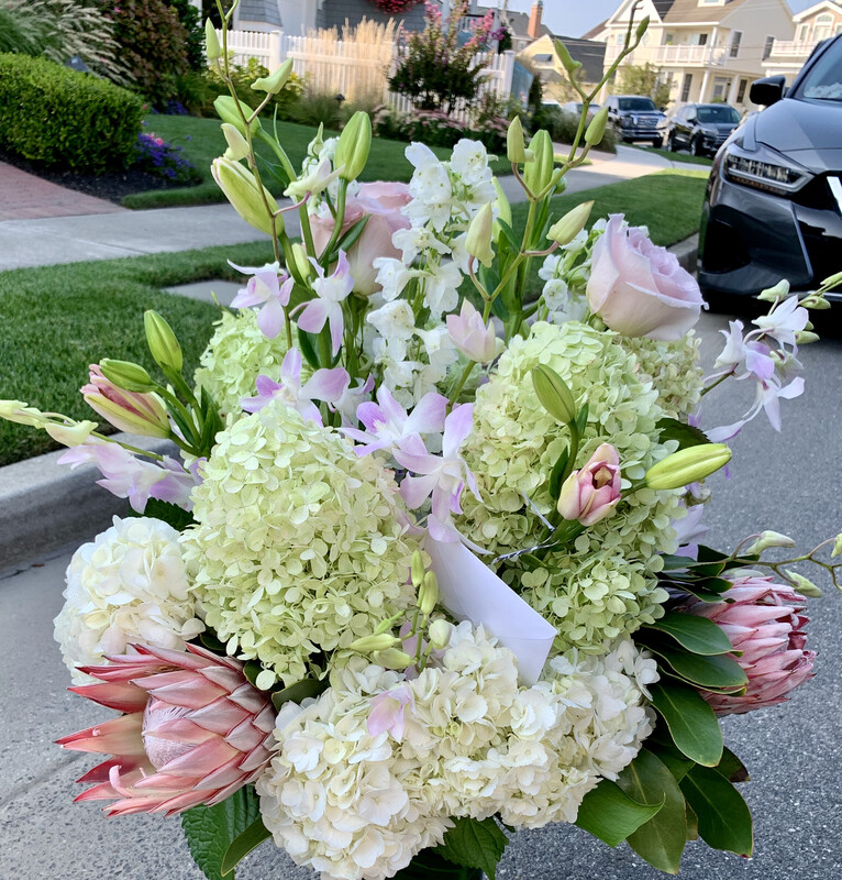 $300 Seasonal Wrapped Fresh Flower Bouquet (no vase)