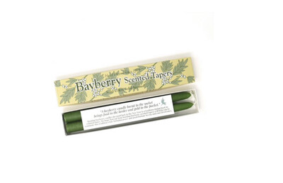 $12 - 2 Hand Dipped Bayberry Taper Candles - New Year's Tradition