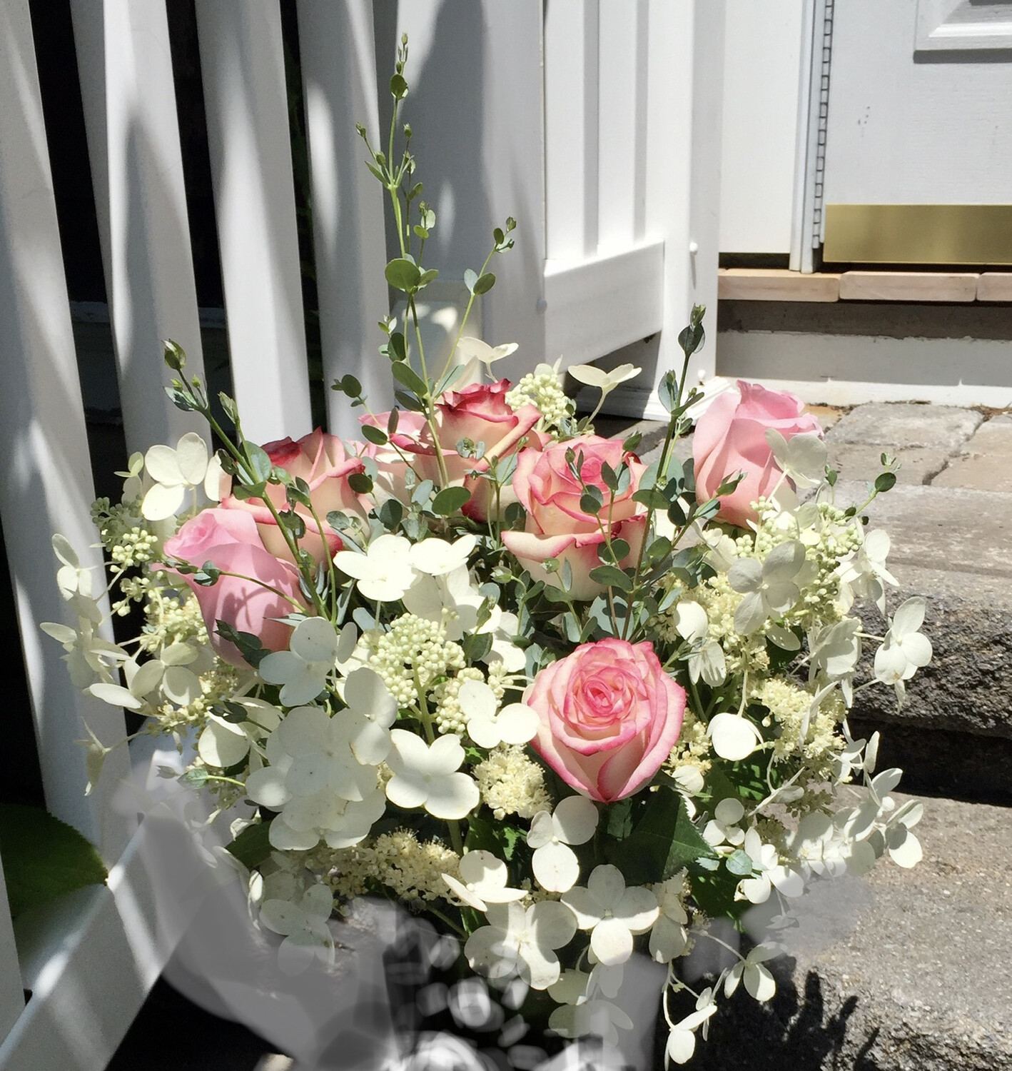 $100 Mother's Day Wrapped Fresh Flower Bouquet (no vase)