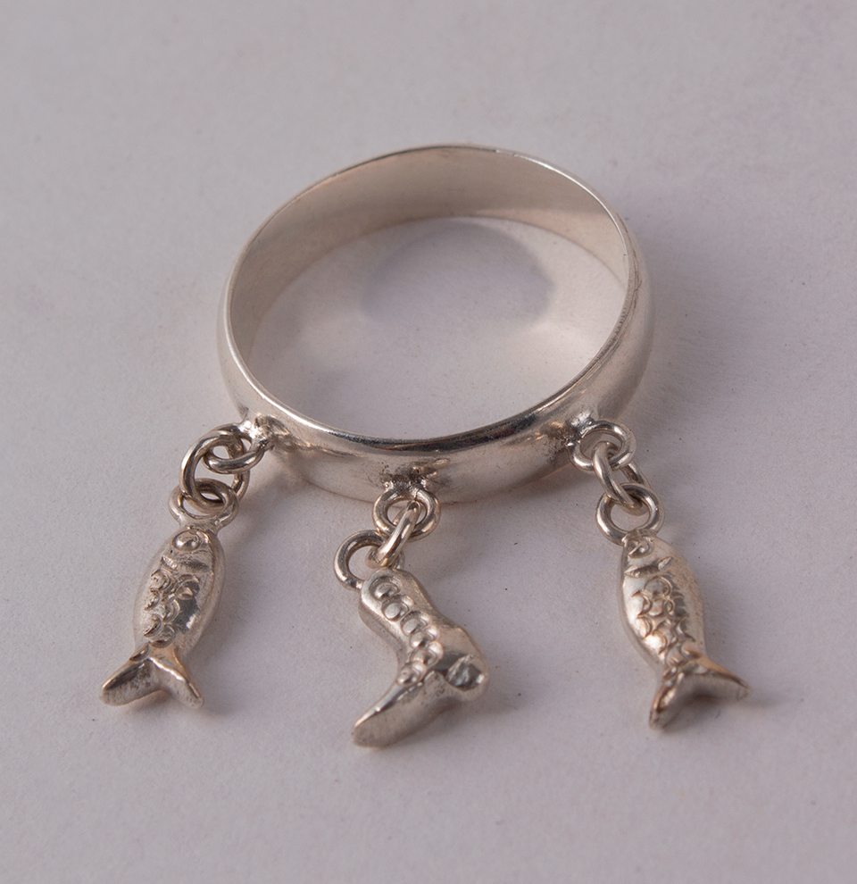 Silver Ring Fish & Boot