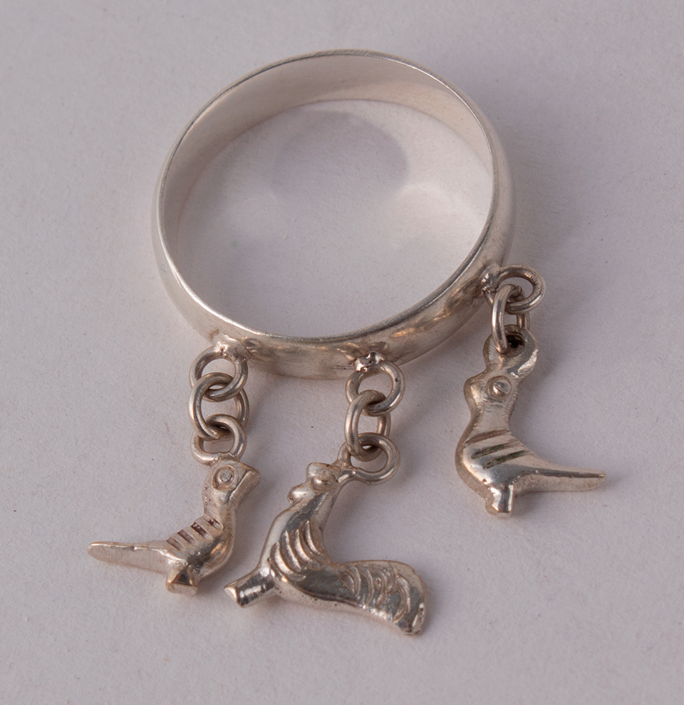 Silver Ring Pigeons & Rooster