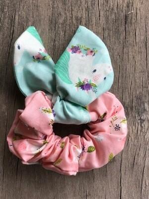 Bunny Ear Hair Scrunchie