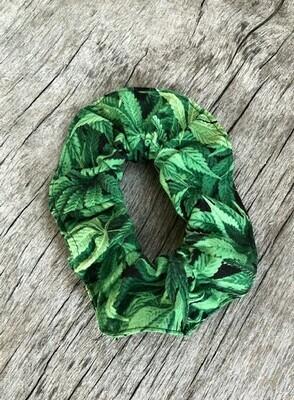 Hair Scrunchies    Lush Green