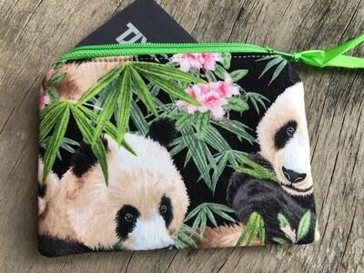 Panda Zip Pouch 100% Cotton