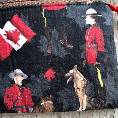 RCMP Zip Pouch 100% Cotton