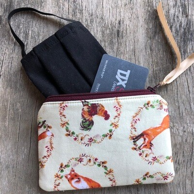 Fox & Rooster Zip Pouch 100% Cotton