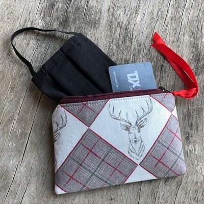 Classic Deer Zip Pouch 100% Cotton