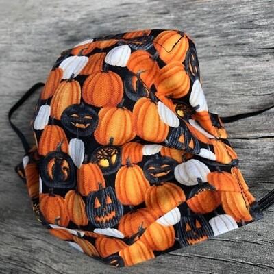 Ladies Medium Face Mask   Jack O Lanterns