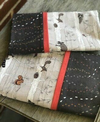 Owls, Squirrels & Raccoons on Trees Pillowcase Set