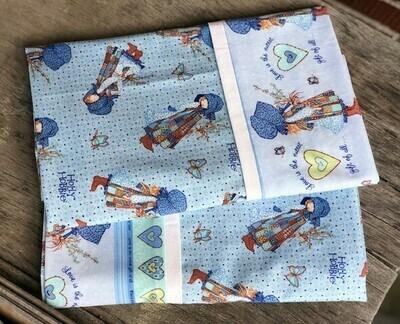 Vintage Holly Hobbie   Blue  Pillowcase Set