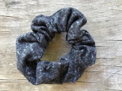 Hair Scrunchies     Dark Grey Flannel