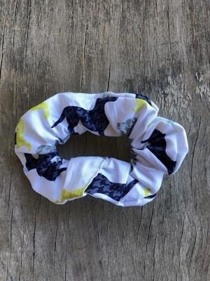 Hair Scrunchies     Dachshund on White