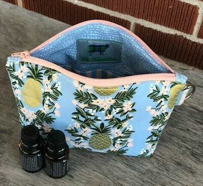 Blue Pineapple Essential Oil Pouch or Make Up Bag!