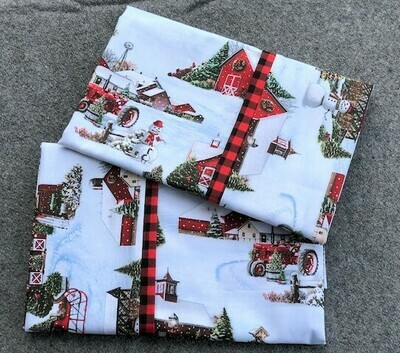 Christmas Farm Pillowcase Set