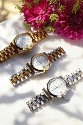 Horloge metalen band grof zilver - My Jewellery