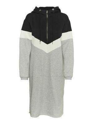 27015029 BLACK NMMelina ls sweat dress - Noisy May