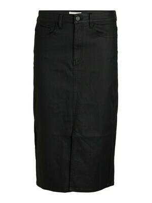 23035075 Black OBJCarla hw coated skirt-Object