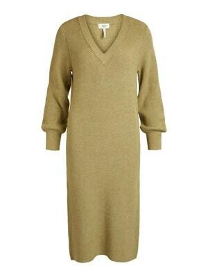 23034964 Khaki/MELANGE OBJViolette ls knit dress