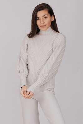 K286 beige Turtle neck