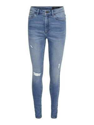 27015709 LIGHT BLUE DENIM NMCALLIE CHIC HW SKINNY - NOISY MAY