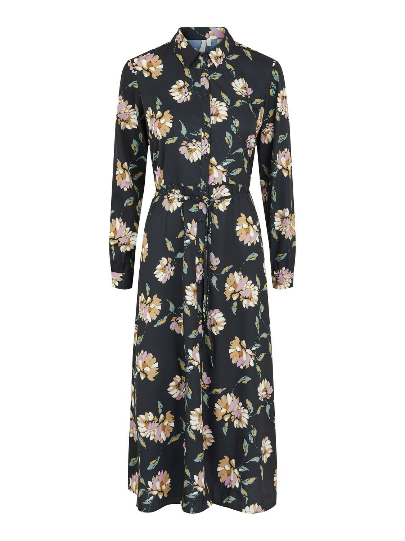 17110713 BLACK PCGyllian midi dress - Pieces