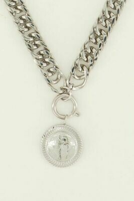 MJ04488 Lucky Charm Munt zilver - My Jewellery
