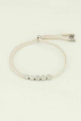 MJ04502 zilver Armband dream touw - My jewellery