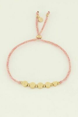 MJ04501 goud/gold Armband  touw Love  - My Jewellery