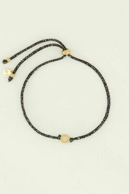 MJ04500 goud/gold Armband touw hartje -My Jewellery