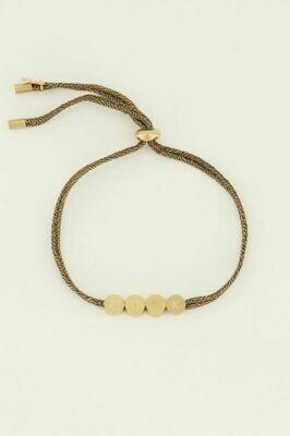 MJ04498 goud/gold Armband touw luck - My Jewellery