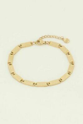 MJ04461 goud/gold Armband lucky words - My Jewellery