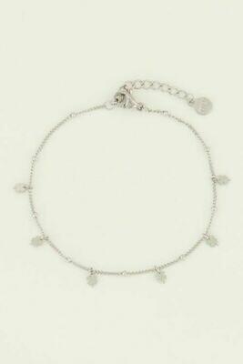 MJ04470 zilver Armband klavertjes - My Jewellery