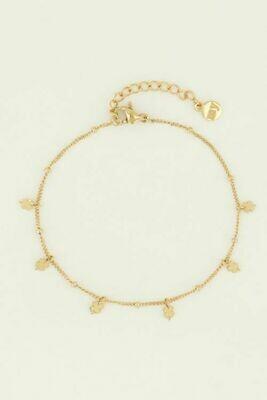 MJ04470 goud/gold Armband klavertjes - My Jewellery