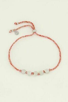 MJ04499 zilver Armband touw Amour - My Jewellery