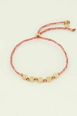 MJ04499 goud/gold Armband touw amour - My Jewellery