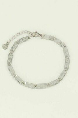 MJ04461 zilver Armband lucky words - My Jewellery