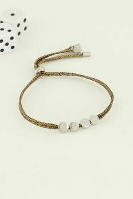 MJ04498 zilver Armband touw luck - My Jewellery