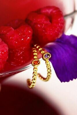 MJ03895 goud/gold Geboortesteen-My Jewellery