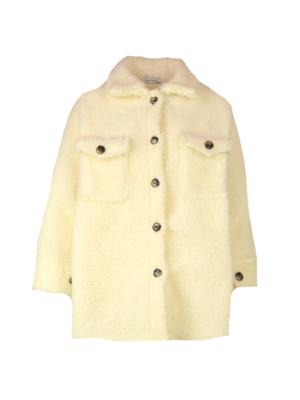 8803 off-white Teddy jacket - Ambika