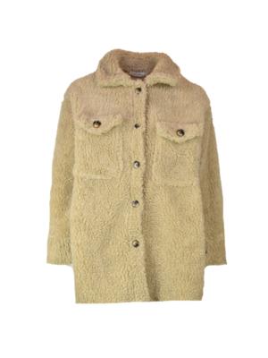 8803 camel Teddy jacket - Ambika